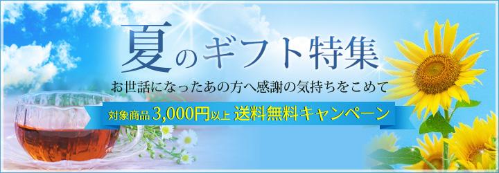 夏のギフト送料無料キャンペーンバナー